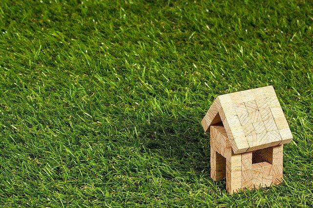 きれいな緑と家